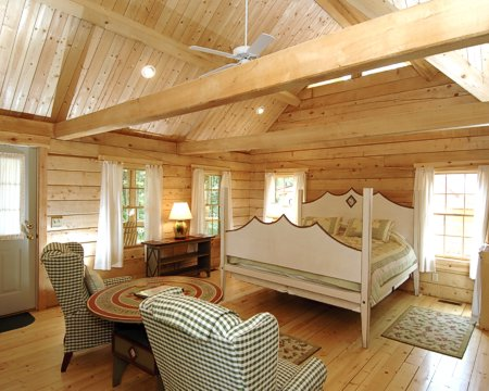 Murphin Ridge Inn, Cabin with king size bed and fireplace