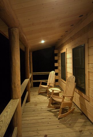Quiet peaceful evenings at Murphin Ridge Cabins